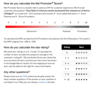 How Net Promoter is used to calculte star rating