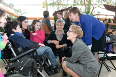 Minister Wynne and Jacob Trossman and family