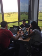 Prosoft Nearshore software developers in San Jose, Costa Rica, work on an agile development project with scrum.