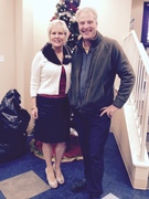 Vacuum Authority owner Russell Gay with Cathy Dykstra, President of the Family Scholar House.