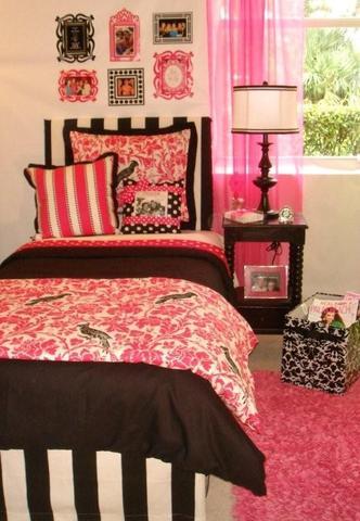 College Girl Dorm Room Bedding and Dorm Decor