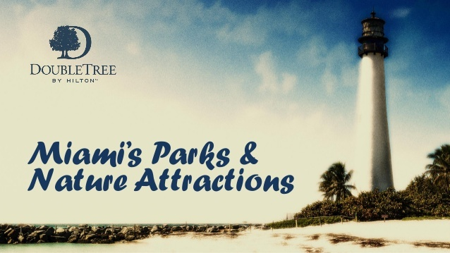 Check out the latest slideshow from the DoubleTree Ocean Point Resort & Spa for some insider information into Miami's best nature attractions.