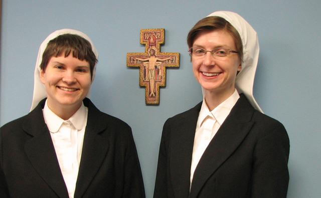 Novice Sisters Monica and Pamela Catherine