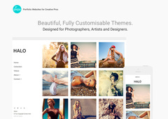 New HTML5 themes for beautiful portfolio websites