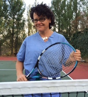 Louisville orthopedic Dr. Stacie Grossfeld is an avid tennis player, competing at the USTA 4.5 level. Each month she features answers to a common tennis injury on her website.