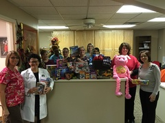 The staff at Orthopaedic Specialists enjoys gathering special toys for the kids at Home of the Innocents in Louisville, Kentucky.