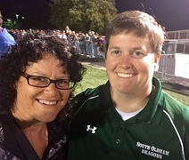 Dr. Stacie Grossfeld, team doctor for the South Oldham Dragons Football players, and Certified Athletic Trainer Kelly Dike M.S.