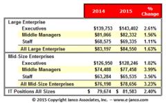 IT Salaries 2015 versus 2014