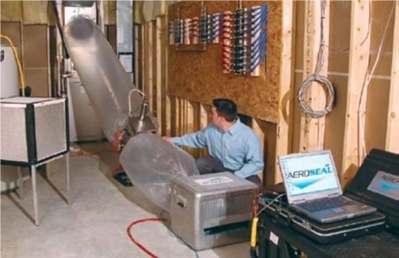 AeroSeal duct sealing.