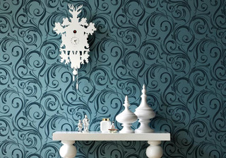 Modern Wallpaper Retailer Graham & Brown Releases Plush Flock Collection by Laurence Llewelyn-Bowen