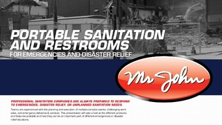 Make Sure you Have an Emergency Sanitation Plan in Place with Help from Mr. John