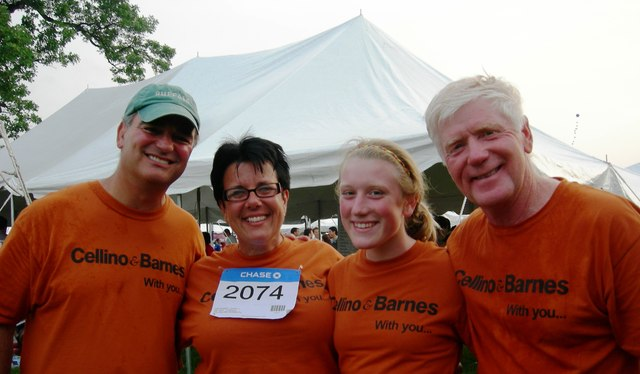 Ross Cellino and other representatives for Cellino & Barnes had a successful day at the corporate challenge.
