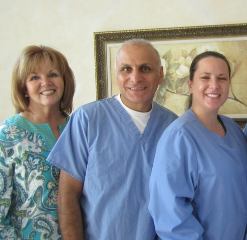 Dr. Farshid Soltanian and staff