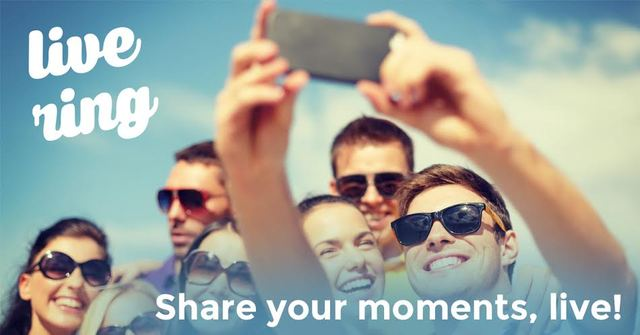 LiveRing introduces a fast way for friends to share and experience moments together in real-time video.