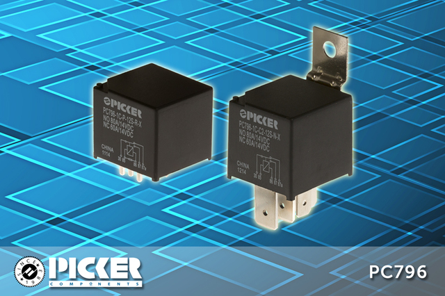 Picker Components' PC796 is ideal for motor controls, which utilize normally closed contacts for dynamic braking.