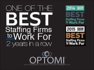 "Optomi Recognized as one of The ""Best Staffing Firms To Work For"" for the Second Consecutive Year"