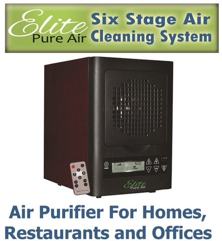 The Elite Air Purifier is a six stage air cleaning system that effectively purifies up to 3,000 square feet of space.