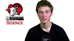 Caleb Bridgewater, DuPont Manual High School Science Student, Louisville, Kentucky.