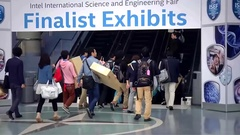 Finalist Exhibits ISEF and DuPont Manual High School, Louisville, Kentucky.