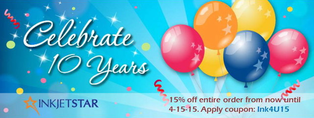 Use coupon: Ink4U15 now to save 15% on your replacement ink