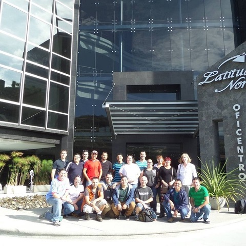 The Prosoft Nearshore software development team standing in front of the company's headquarters in San Jose, Costa Rica.