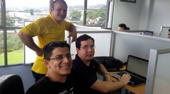 Prosoft Nearshore Software Development Team in Costa Rica working together on a custom software project.