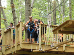 "TV's ""Long Island Medium,"" Theresa Caputo, steps out on her first ""element"" at The Adventure Park at Long Island last summer. (Photo: Anthony Wellman, Outdoor Ventures)"