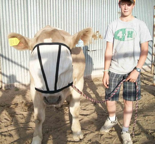 4-H Member Colton Sterling with his steer