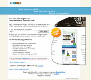 Treasure your blog? Tell the world about it, BlogUpp