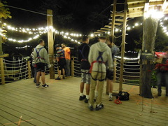 Night time climbing has its own special magic at The Adventure Park as thousands of tiny LED lights gently illuminate the way. (Photo: Anthony Wellman, Outdoor Ventures)