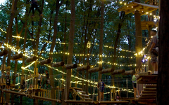 The Adventure Park at West Bloomfield gently a-glow for night climbing. (Photo: Outdoor Ventures)