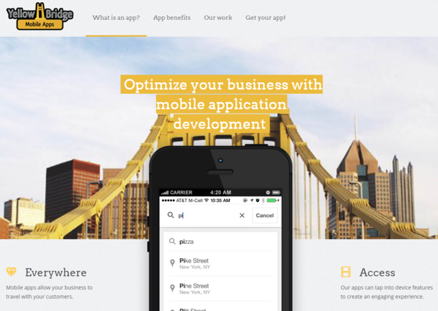 Give your brand a custom tailored mobile solution with help from the new mobile app development services from Yellow Bridge Interactive.