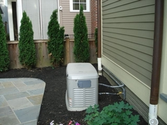 Residential emergency generator created noise levels above local noise ordinance levels before the homeowner devised a noise barrier using Acoustiblok sound reduction materials.