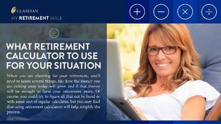 My Retirement Walk Explains the Value of Retirement Calculators