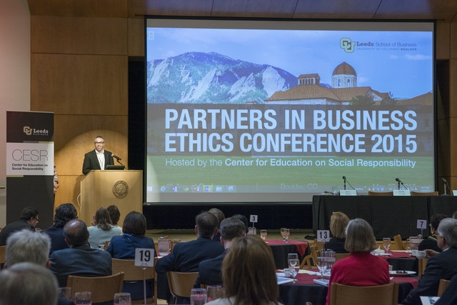 Academic and corporate leaders converge to address business ethics in business schools and corporations.