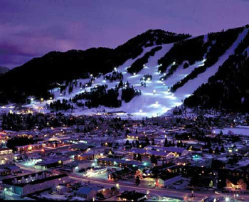 Night-skiing lights shine over Jackson, Wyoming, from Snow King Resort – one of three Jackson Hole ski areas on offer in a unique ski-and-stay package deal.