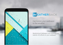 Weatherback Wallpaper adds a realistic and beautiful look to users' current wallpaper by enhancing it with weather effects.