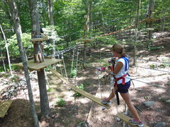 "A series of challenge bridges (called ""elements"") between tree platforms connected together form the aerial trails at The Adventure Parks. (Photo: Anthony Wellman, Outdoor Ventures)"