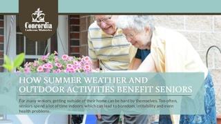 Concordia's Caregivers Help Seniors Improve their Health by Getting Outdoors this Summer