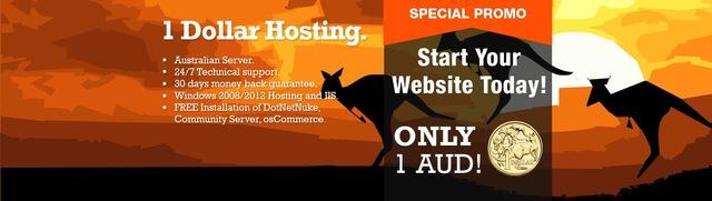 one dollar hosting, $1 web hosting