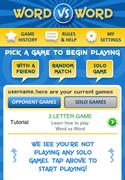 Word vs Word Menu Screen