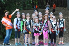 12 of the 16 contestants of the Lil' Miss Adventure Park pageant at The Adventure Park at West Bloomfield on July 1, 2015.