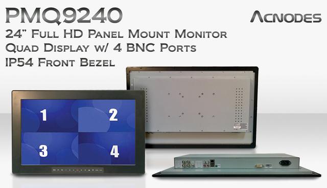 24-inch Panel Mount CCTV Monitor