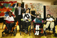 """""""Our goal is to raise $440,000 so that our children can make themselves understood, to express their need and wants regardless of their inability to speak,"""" said Christopher Hopper"""
