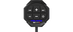 The waterproof Polaris Bluetooth Remote Controller by MB Quart has large rubberized buttons