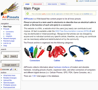 New Wiki Website Provides Free Access to a Large Pinouts Archive.