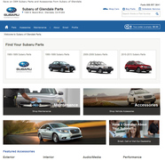 Subaru of Glendale online parts store