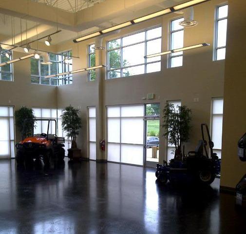 Husqvarna showroom in Charlotte, NC before reverberant noise and echo problems were addressed.