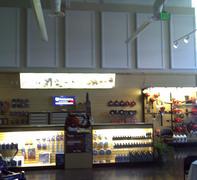 Husqvarna showroom after installation of Acoustiblok Indoor Sound Panels.