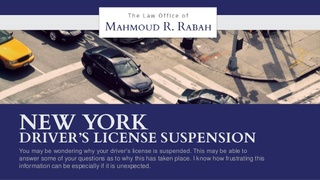 The Law Office of Mahmoud R. Rabah Guides Clients Through License Suspensions